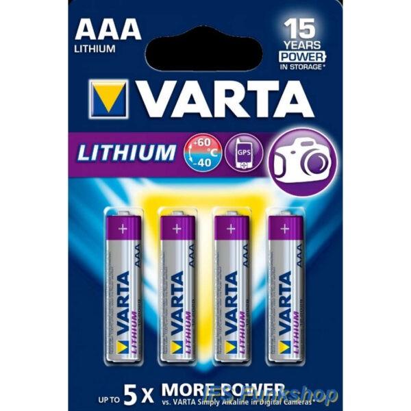 varta lithium aaa 1